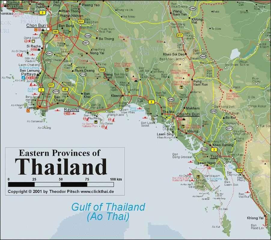 Vector Kort Over Thailand Land Farvet Stock Vektor Colourbox