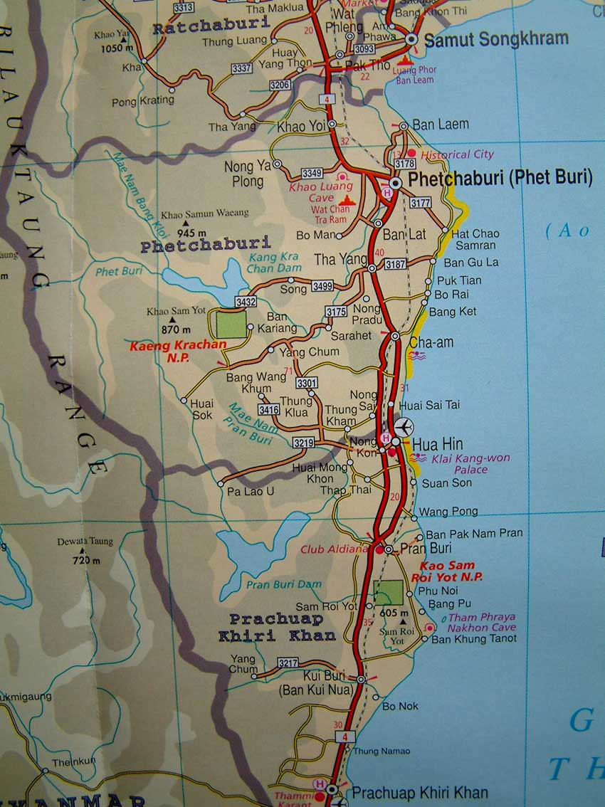 Maps Of Thailand Chaam Org