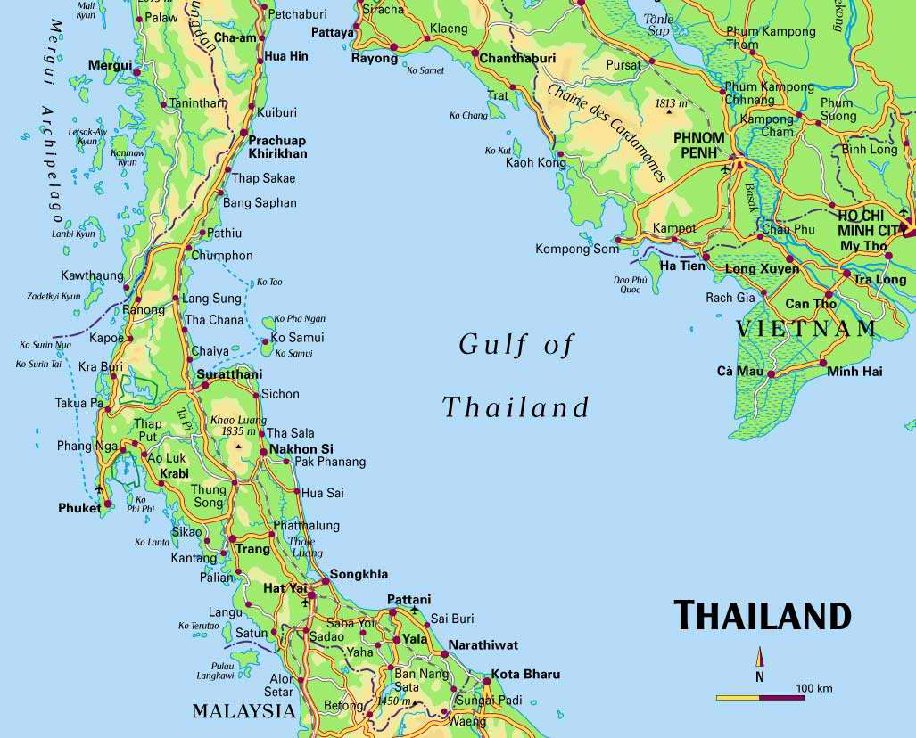 South Of Thailand Map ~ CINEMERGENTE